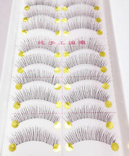 10 Pares MUJER Bonito Largo Pestañas Falsas Maquillaje Natural Imitación Grueso