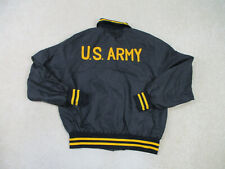 VINTAGE US Army Jacket Adult Large Black Yellow Military Armed Forces Coat Mens