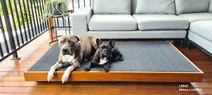 LARGE Timber Outdoor Dog Bed - Handmade - 650mm x 900mm