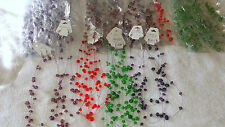 Joblot of 42 Glass Crystal steel wire Necklace & Earring sets  - NEW Wholesale