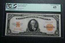 1922 $10 Gold Certificate Fr. 1173a PCGS 45 - Nice Example! (56563)