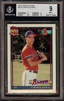 Very Rare 1991 Topps Tiffany #333 Chipper Jones Rookie RC Card BGS 9 Mint HOF!