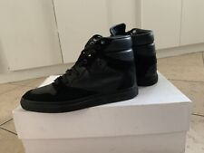 Balenciaga Black Velvet and Leather High Top Sneakers Size 37