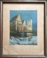 ::ERNST MÜLLER BERNBURG *1874 FARBRADIERUNG SCHLOSS BURG GRÜNWALD MÜNCHEN 8/25