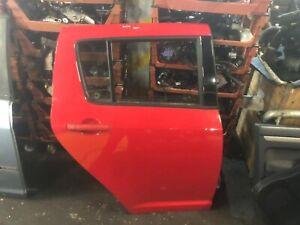 SUZUKI SWIFT MK2 2005-2010 DRIVERS REAR OSR BARE DOOR RED ZCF CODE 5 DOOR