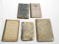 ANTIQUE GERMAN BOOKS, 1866, 1869, 1873, 1879, LOT OF FIVE