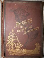 America: An Encyclopaedia of History & Biography by Stephen Newman 1881 1st ed