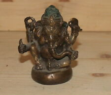 Vintage Hindu hand made bronze elephant god Ganesha figurine