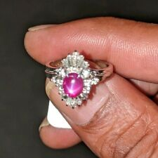 Platinum Burma Star Ruby And Diamond engagement Ring