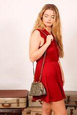 Vestido De Verano Vintage Borgoña Clarete rojo carmesí-Sears carreras de boda de verano