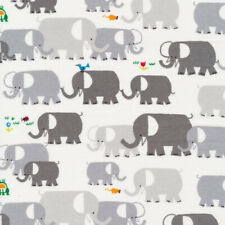 Organic Cotton Fabric, Elephants from Favourites by Ed Emberley Cloud9 Quilters