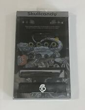 Vintage Skullcandy Full Metal Jacket Earbuds Black with Aluminum Braided Cable