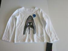 Hurley Infant Toddler Boy's 12M  White Shark Logo Long Sleeve T-Shirt Tee NWT
