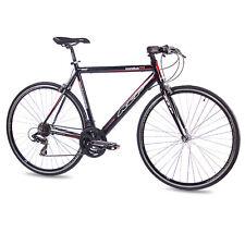 "28"" BICICLETTA DA CORSA BICICLETTA Fitness Bike KCP maratona ALU 21 marce Shimano 56cm Nero"