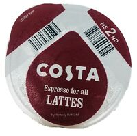 96 X TASSIMO COSTA ESPRESSO COFFEE PODS ONLY T-DISCS (LOOSE) EXPRESSO PODS LATTE