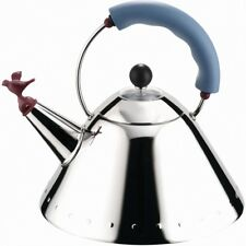 Alessi Bird Whistle Kettle Blue 9093 by Michael Graves