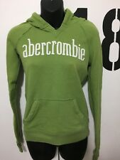 Juniors Abercrombie Green Hooded Pull Over Sweatshirt Size XL
