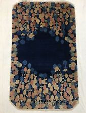 ca.1910 Decorative Old Antique Art Deco Chinese Rug 5x2.11 Ft