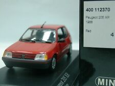 WOW EXTREMELY RARE Peugeot 205 XR 1.4L 74HP 1988 Red 1:43 Minichamps-404/504/GTi