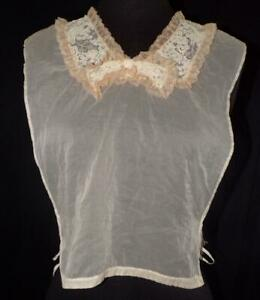 VTG 30s 40s 50s SHEER CHIFFON LACE COLLAR DICKIE BLOUSE TOP 4 SUIT JACKET 1 SZ