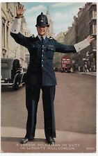 Social History; A London Policeman On Duty, Ludgate Hill PPC, 1955 PMK