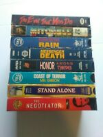 Lot of 8 VHS tapes Charles Bronson, Mel Gibson and more, untested(vhs7)