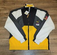 Puma x Helly Hansen TGS Tailored For Sport Jacket Citrus Black Size M 597144-89