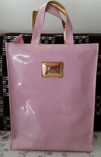 HARRODS MEDIO ORO LOGO piatto SHOPPER Borsetta Rosa