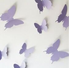 12 Pcs 3D Butterflies Wall Decals Stickers Mural Diy Home Beautiful Decoration