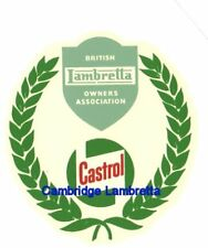 Castrol Laurel Leaf BLOA British Lambretta Owner Association Waterslide (1FB114)