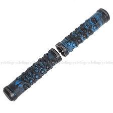 PROPALM MTB Grips Blue Handlebar Grips TPR Rubber Lock-on Grips Fixed Gear