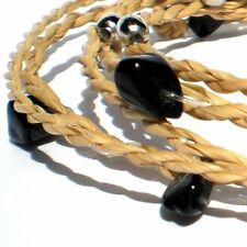 Friendship Rope Bracelet Anklet Ethnic Black Onyx Stone