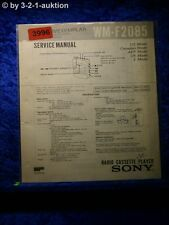 Sony Service Manual WM F2085 Cassette Player (#3996)