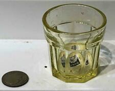 Antique Sandwich Glass Canary Glass Child's Pressed Paneled Toy Tumbler, c. 1845