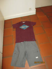 LOT TSHIRT PETROL 16 ANS+SHORT GRIS NAME IT 14 ANS