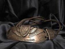 Rare! Anniversary J. P. Gaultier Silver Tone Metal Buckle w Leather Strap Belt