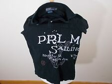 VTG Polo Ralph Lauren Mens Marine Sailing Supply SS Shirt Size Small Black