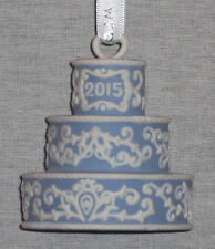 "Wedgwood Jasperware Blue 2015 ""Our First Christmas Together"" Ornament New In Box"