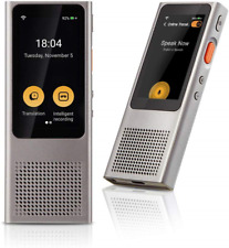 Langogo Minutes Instant Two-Way WiFi Voice Translator, Speech-to-Text Recorder