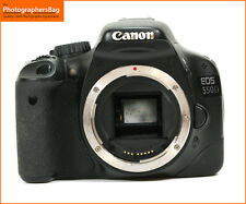 Nero Canon EOS 550D 18MP DSLR Camera, solo corpo GRATIS UK