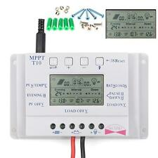 LCD MPPT Solarladeregler Solar Charge Controller 10A 12V/24V+ Free Schraube BE
