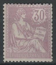 "FRANCE STAMP YVERT 128 SCOTT 137 "" THE RIGHTS OF MAN 30c LILAC  "" MNH VVF K814"