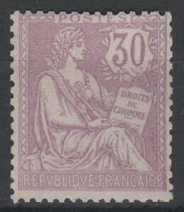 "FRANCE STAMP YVERT 128 SCOTT 137 "" THE RIGHTS OF MAN 30c LILAC  "" MNH VVF K814"