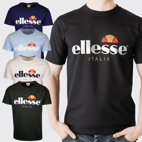 Ellesse Mens T-Shirt Short Sleeve T Shirt Crew Neck Casual Summer Cotton Tee