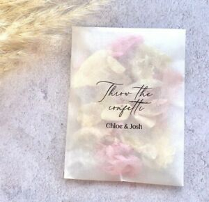 Rose Petal Natural Biodegradable Wedding Confetti Dried Bags Packets FLUTTERFALL