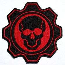 Skull Gear - Iron Sew On Patch - Rockers - Ton up Boys No-33