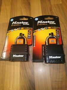 X2 Masterlock Excell Level 9 4 Digit Weathershield Combination Padlock   M178D