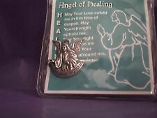 Healing Guardian Angel Charm with Prayer Card in Plastic Sleeve