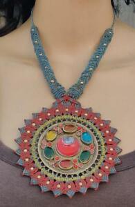 Kuchi Macrame Handmade Thread Boho Vintage Banjara Tribal Afghan Gypsy Necklace