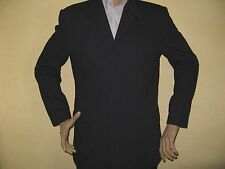 MENS NAVY ADAMS TEXTURED SINGLE BREASTED FASHION SUIT 40S CHEST 34R WAIST 32 LEG